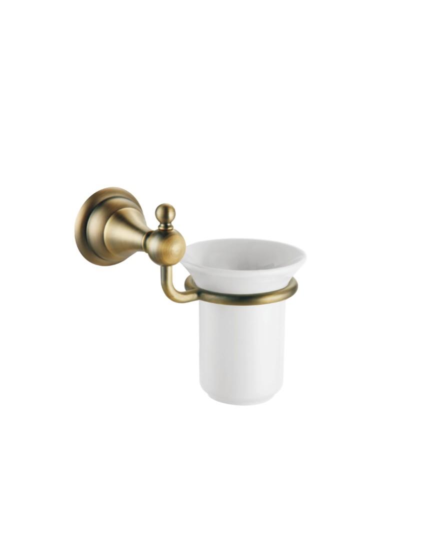 Pahar ceramic cu suport Pompei bronz casamia 2021