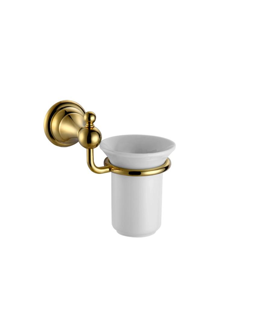 Pahar ceramic cu suport Pompei auriu casamia 2021