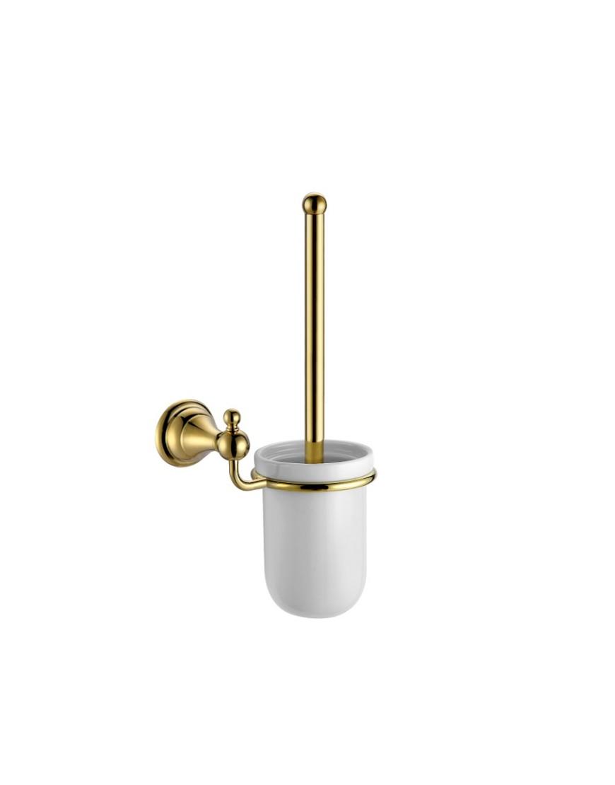 Perie wc cu suport Pompei auriu casamia 2021