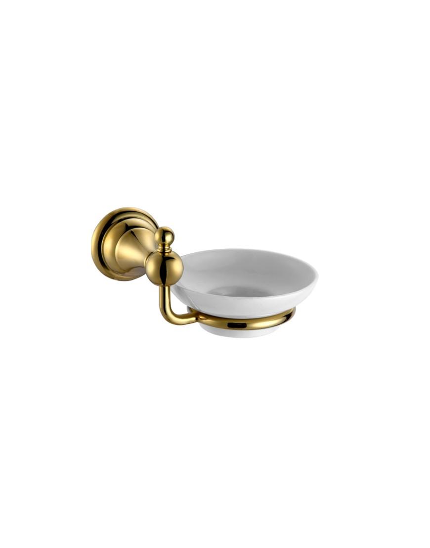 Sapuniera ceramica cu suport Pompei auriu casamia 2021