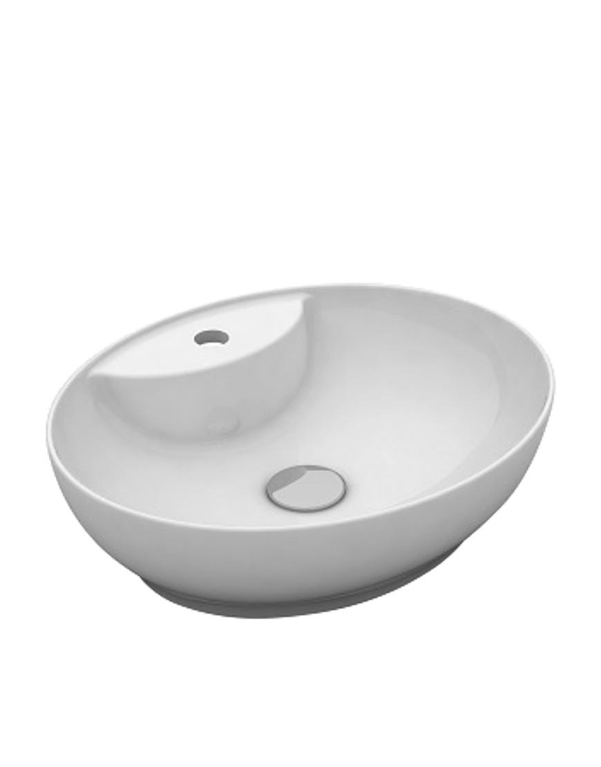 Lavoar Oval Trend Alb Mat