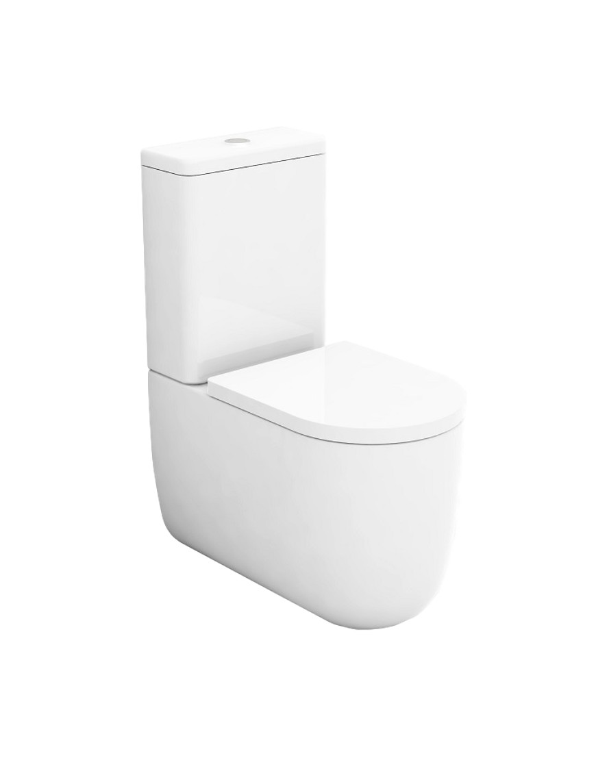 Vas wc monobloc Milady Negru mat casamia 2021
