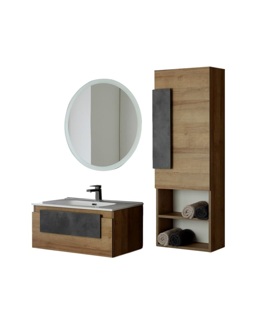 Mobilier de baie suspendat cu culoana Urban 80cm casamia 2021